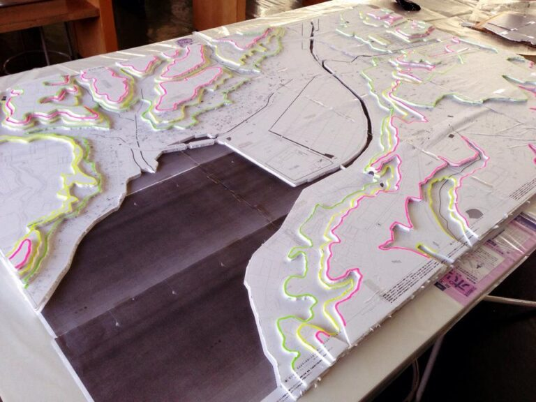 【静岡新聞掲載】オイスカ高周辺立体地図を製作